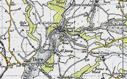 Old map of Bame Wood in 1946