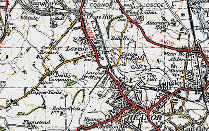 Old map of Loscoe in 1946