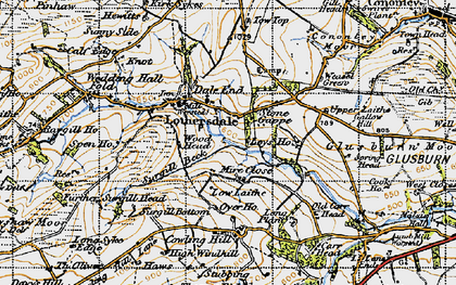 Old map of Leys Ho in 1947