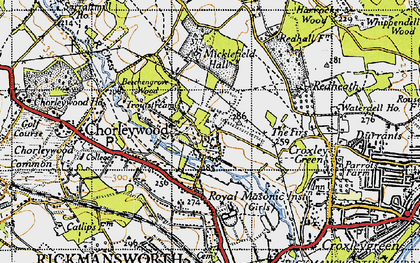 Old map of Thurlwood Ho in 1946