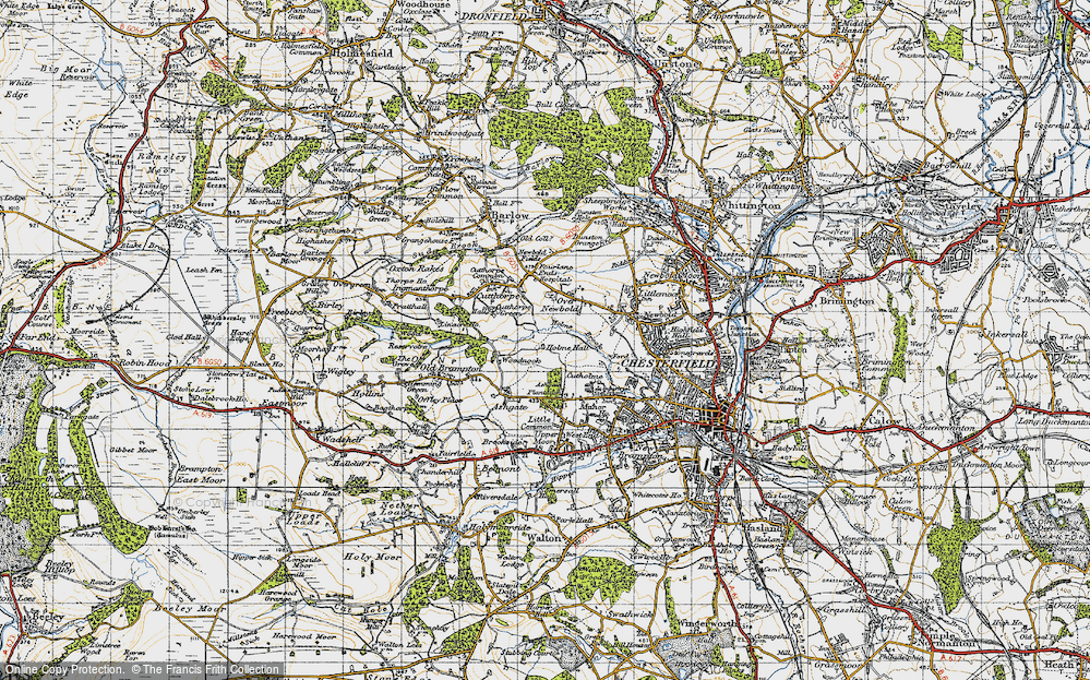 Old Map of Loundsley Green, 1947 in 1947