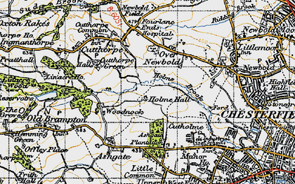 Old map of Loundsley Green in 1947