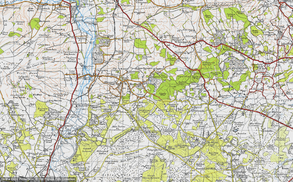 Old Map of Historic Map covering Langley Wood in 1940