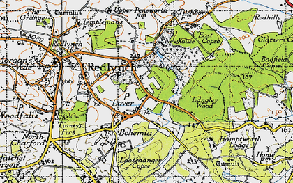 Old map of Langley Wood in 1940