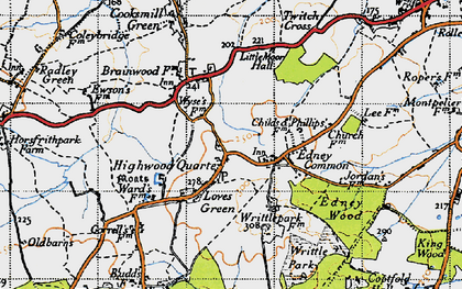 Old map of Wyse's Cottage in 1946