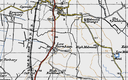 Old map of Low Burnham in 1947