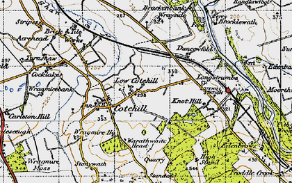 Old map of Wrayside in 1947