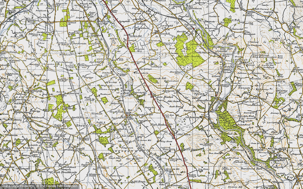 Old Map of Low Hesket, 1947 in 1947