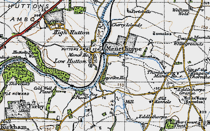 Old map of Low Hutton in 1947