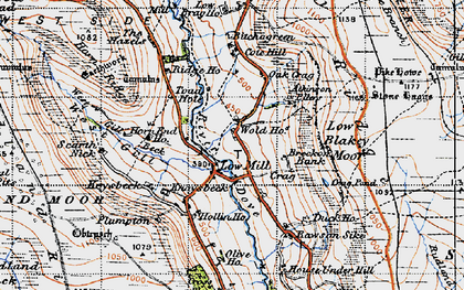Old map of Wold Hos in 1947