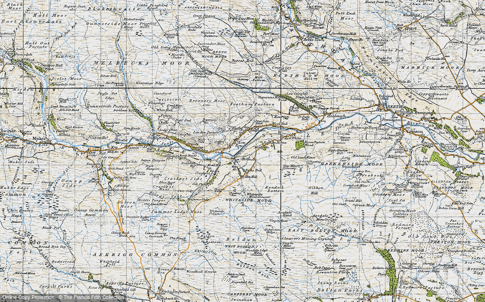 Old Map of Low Row, 1947 in 1947
