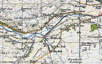 Old map of Low Row in 1947