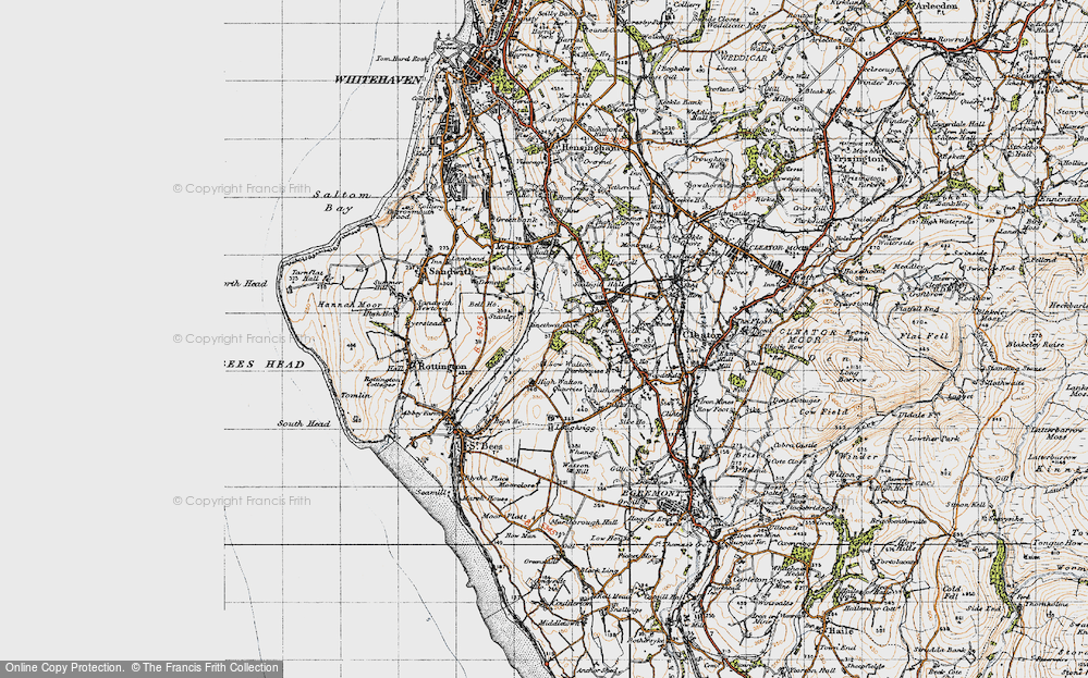 Old Map of Historic Map covering Linethwaite in 1947