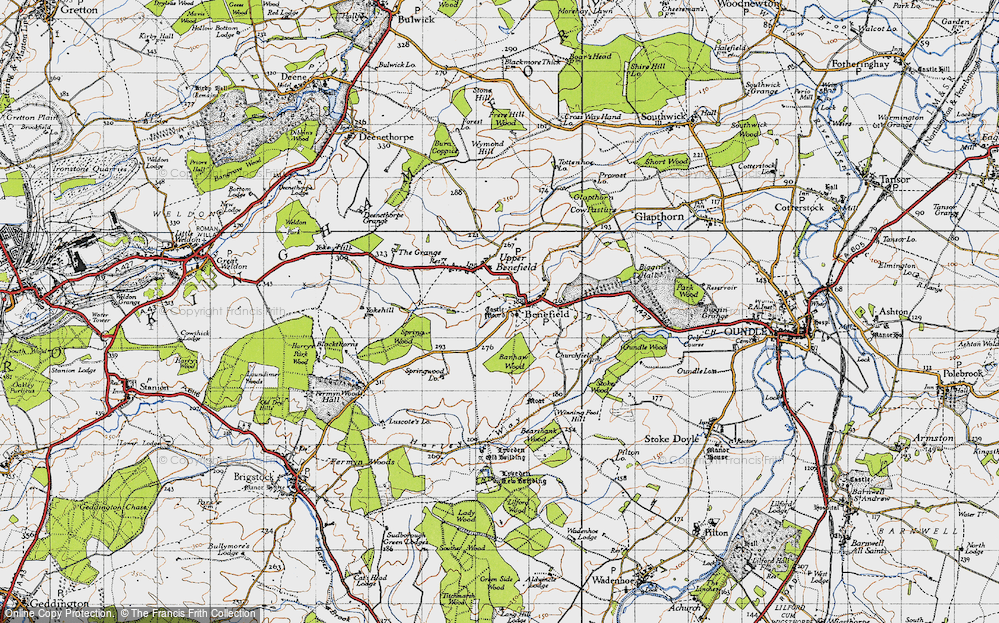 Old Map of Historic Map covering Banhaw Wood in 1946