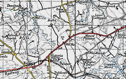 Old map of Lower Brynn in 1946