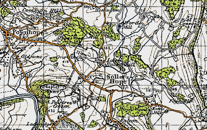 Old map of Alford's Mill in 1947