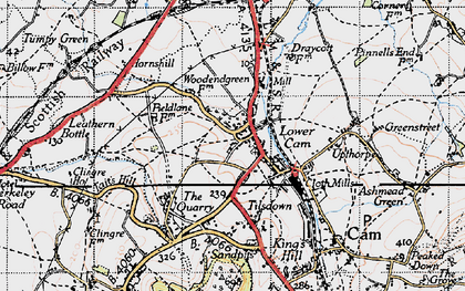 Old map of Lower Cam in 1946