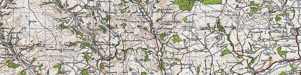 Old map of Alltybrain in 1947