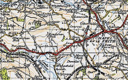 Old map of Lower Crossings in 1947