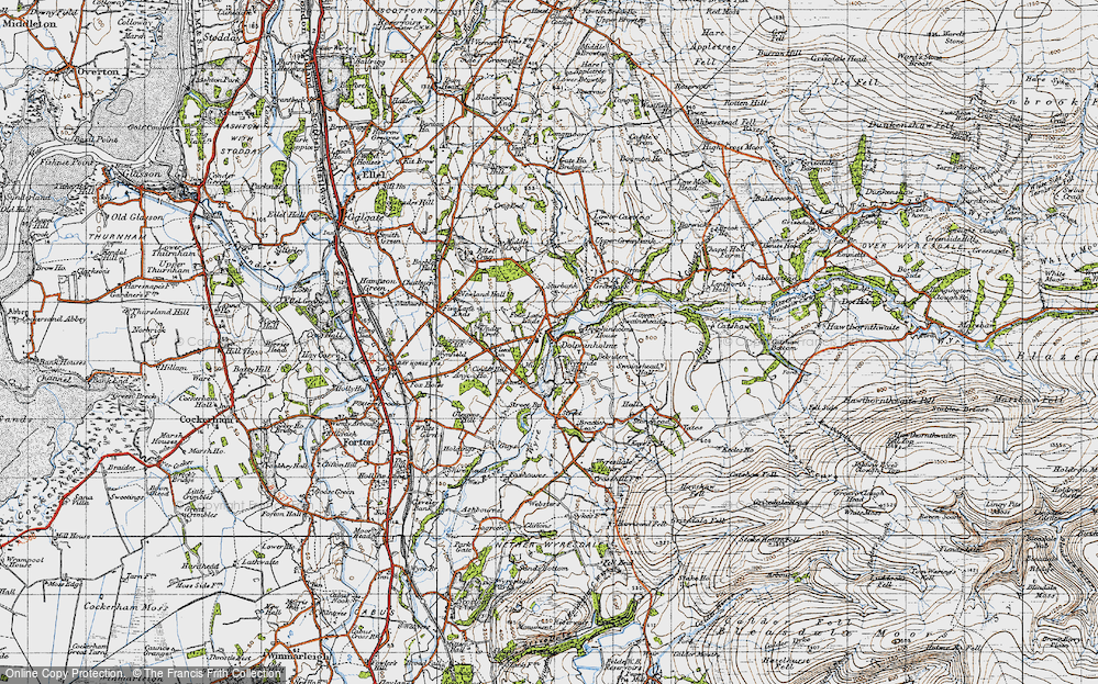 Old Map of Historic Map covering Bantons in 1947