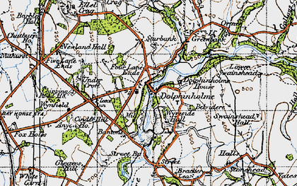 Old map of Bantons in 1947