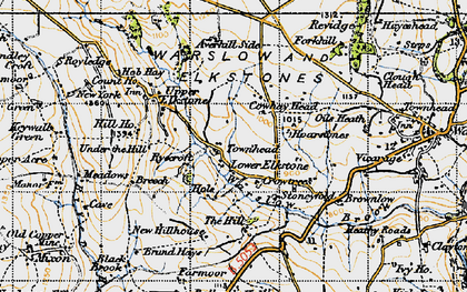 Old map of Averhill Side in 1947