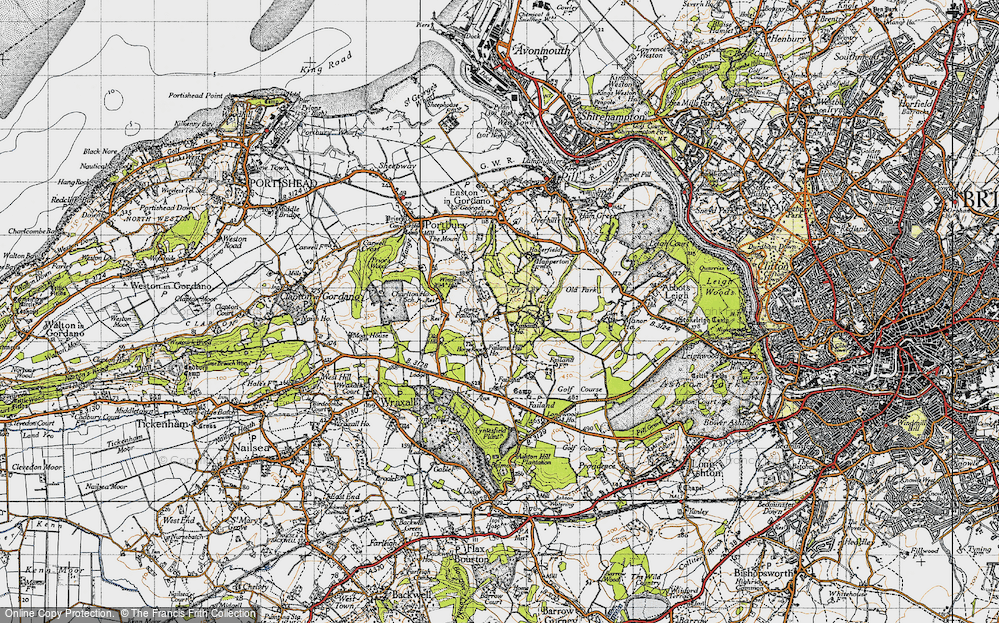 Old Map of Lower Failand, 1946 in 1946