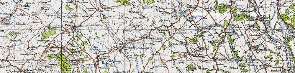 Old map of Winterburn Brook in 1947