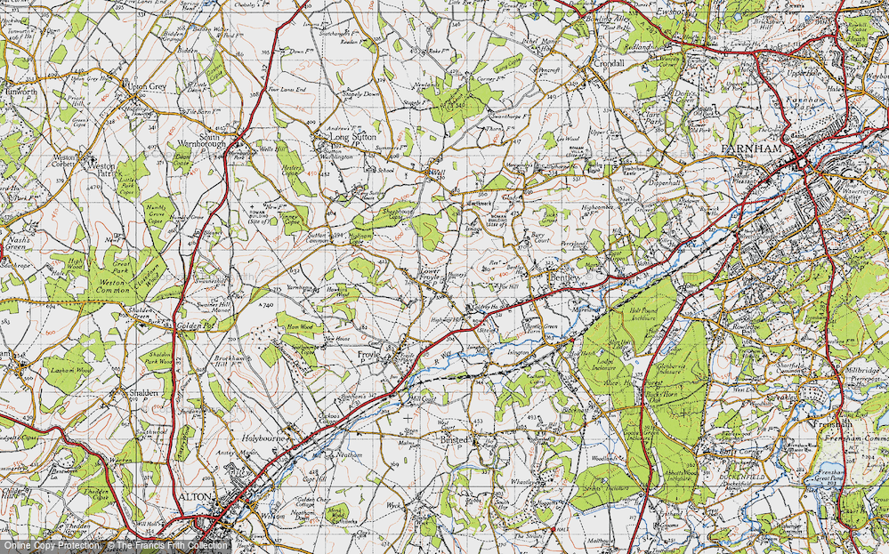 Old Map of Lower Froyle, 1940 in 1940