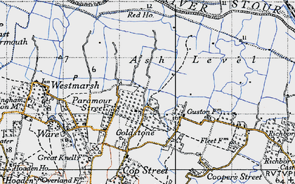 Old map of Ash Level in 1947