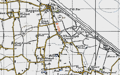 Old map of Lower Happisburgh in 1945