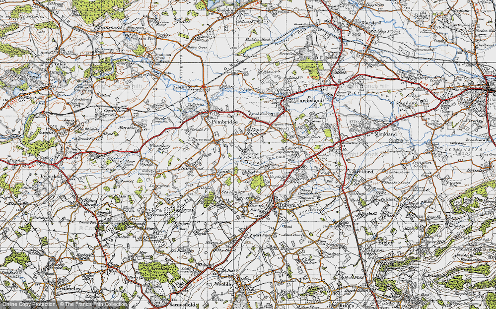 Old Map of Historic Map covering Tippet's Brook in 1947