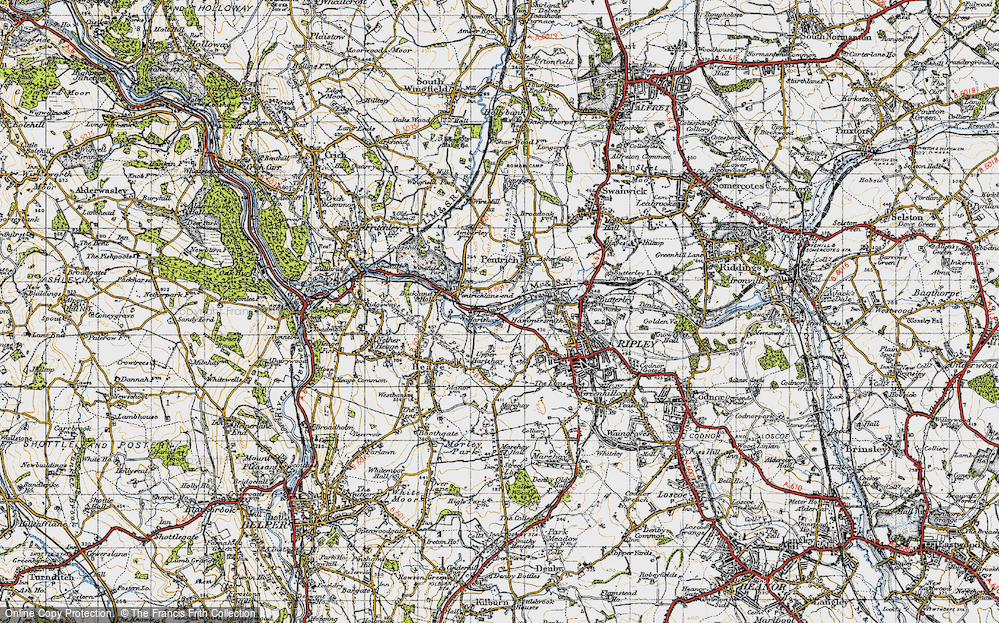 Old Map of Lower Hartshay, 1946 in 1946
