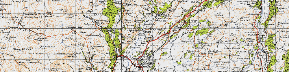 Old map of Whineray Ground in 1947