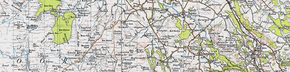 Old map of Whooping Rock in 1946