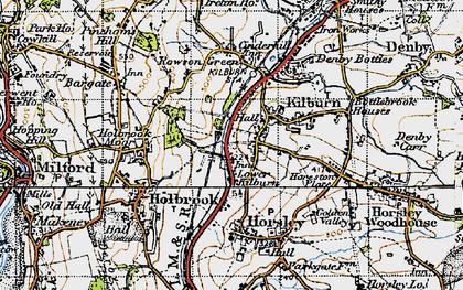 Old map of Lower Kilburn in 1946