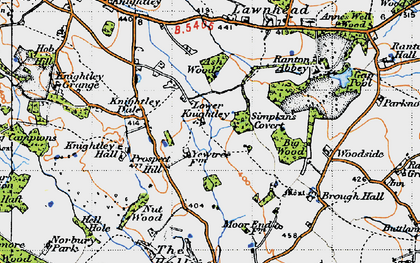 Old map of Ash Wood in 1946