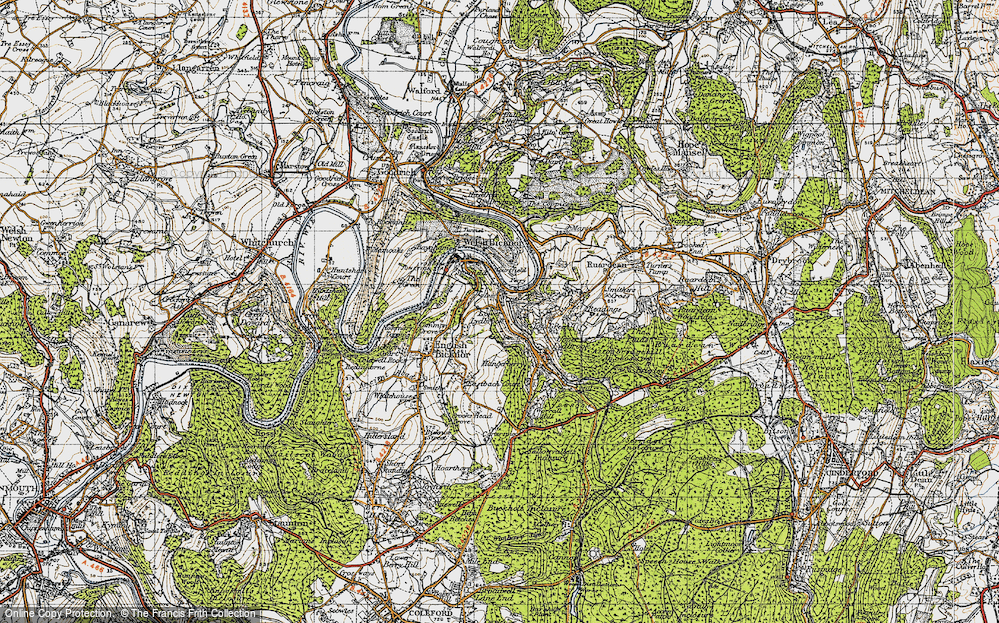 Old Map of Lower Lydbrook, 1947 in 1947