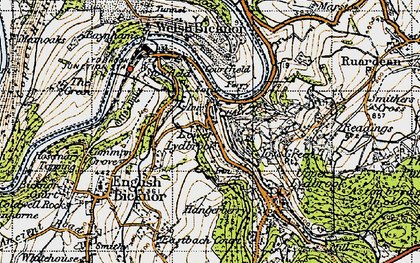 Old map of Lower Lydbrook in 1947