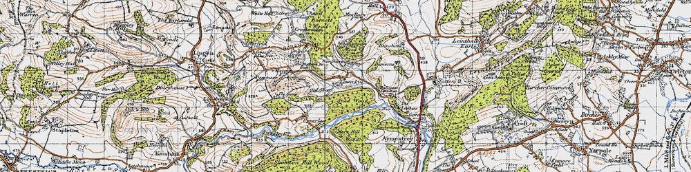 Old map of Woodhampton in 1947