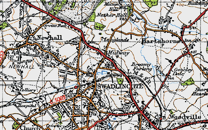 Old map of Lower Midway in 1946
