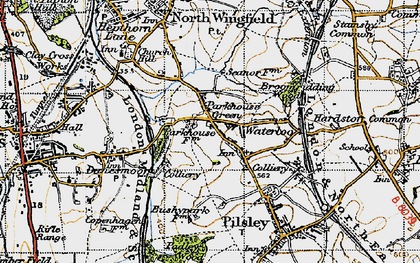 Old map of Lower Pilsley in 1947