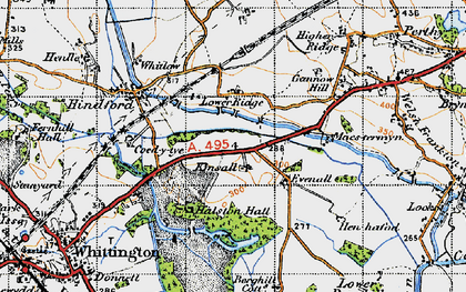 Old map of Kinsale in 1947