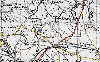 Old map of Lower Rose in 1946
