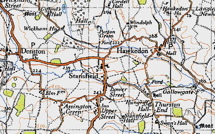 Old map of Wickham Ho in 1946