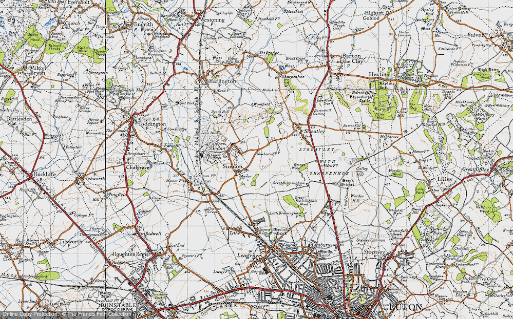 Old Map of Lower Sundon, 1946 in 1946