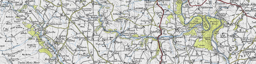 Old map of West Penrest in 1946