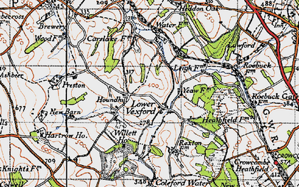 Old map of Leigh Cott in 1946