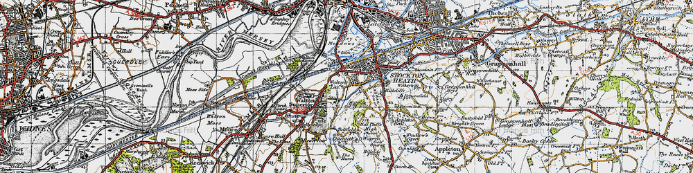 Old map of Lower Walton in 1947