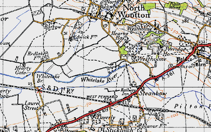 Old map of Whitelake in 1946